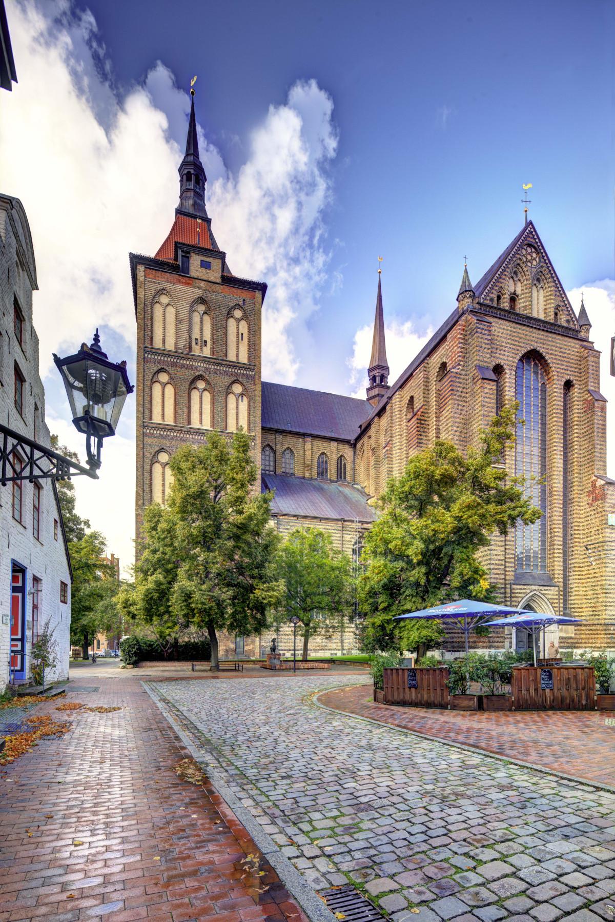 St.-Marien-Kirche, Blick vom Ziegenmarkt