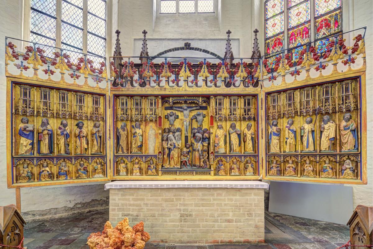 St.-Marien-Kirche, Nordquerhaus, ehem. Hochaltar von St. Nikolai
