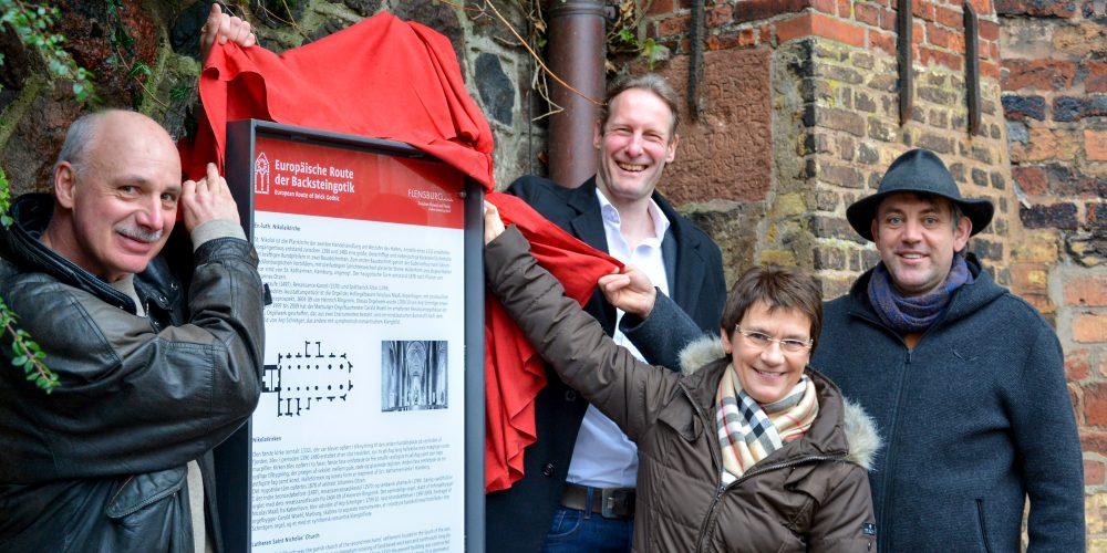 Route der Backsteingotik: Neue Infotafeln an fünf Kulturdenkmälern in Flensburg