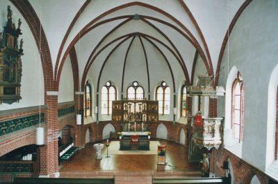 St-Johannis-Kirche, Blick auf den Altar, Dahlenburg