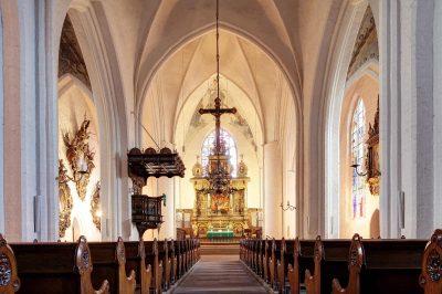 St.-Marien-Kirche, Blick auf den Altar, Flensburg