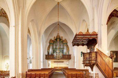 St.-Marien-Kirche, Blick auf die Orgel, Flensburg