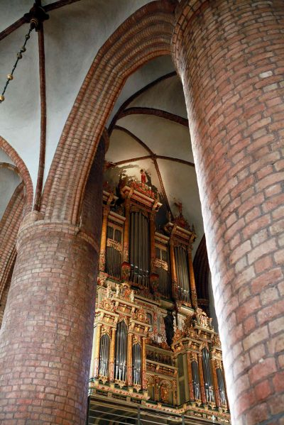 St.-Nikolai-Kirche, Blick auf die Orgel, Flensburg