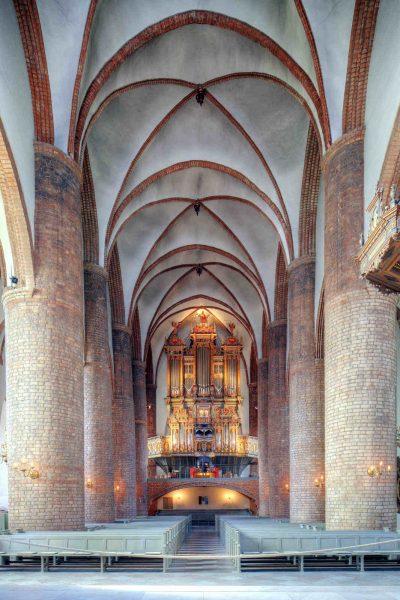 St.-Nikolai-Kirche, Blick ins Mittelschiff, Flensburg