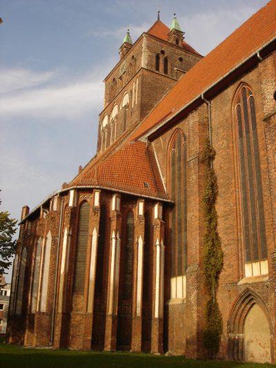 St.-Marien-Kirche, Annenkapelle (links), Greifswald
