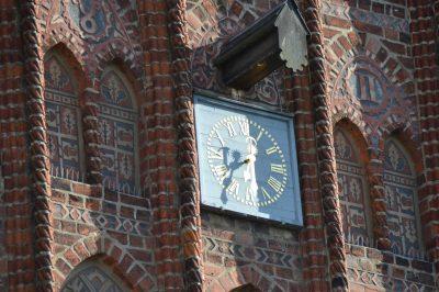 Rathaus, Giebeluhr, Jüterbog