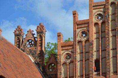 Siechen- und Abtshaus, Giebel, Kloster Zinna