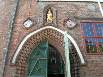 Rathaus, Straße Am Ochsenmarkt, Detail, Lüneburg