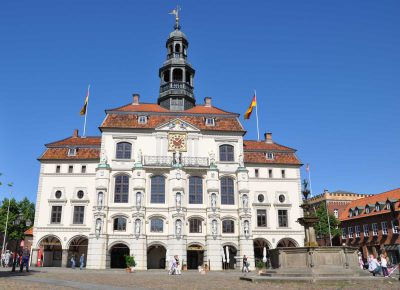 Rathaus, Renaissance-Seite am Marktplatz, Lüneburg