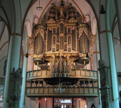 St.-Johannis-Kirche, Blick auf die Orgel, Lüneburg