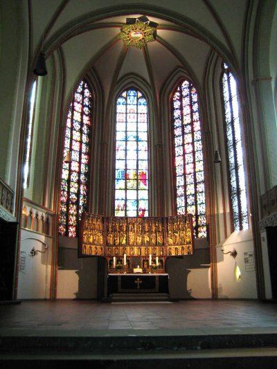 St.-Johannis-Kirche, Blick auf den Altar, Lüneburg