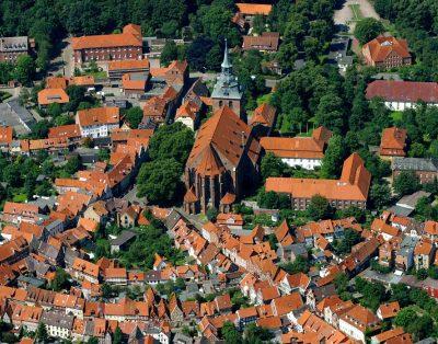St.-Michaelis-Kirche, Luftaufnahme, Lüneburg