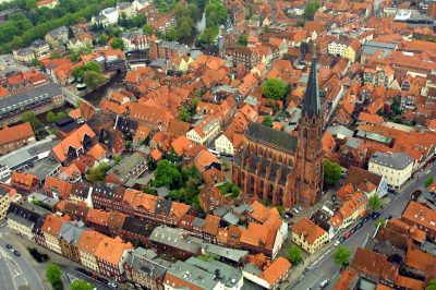 St.-Nicolai-Kirche, Luftaufnahme, Lüneburg