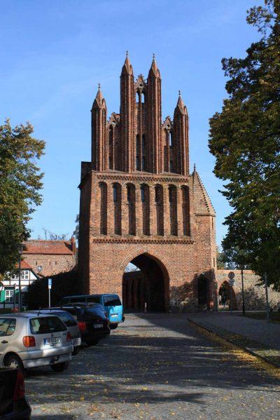 Friedländer Tor, Haupttor, Stadtseite, Neubrandenburg