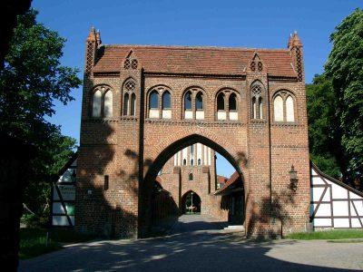 Friedländer Tor, Vortor, Feldseite, Neubrandenburg