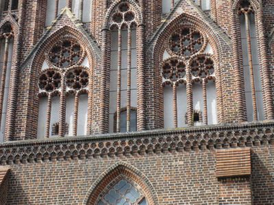 St.-Marien-Kirche, Giebel, Detail, Neubrandenburg