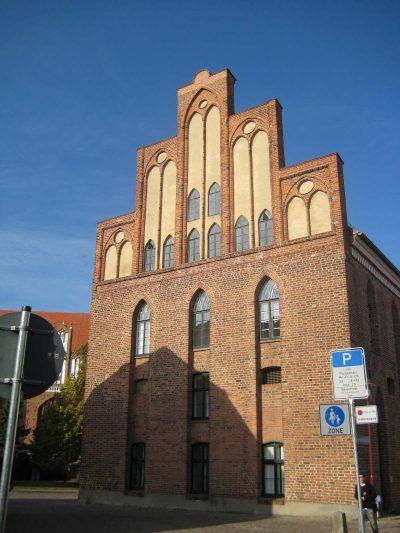 Rathaus, Giebel zur Waagestr., Parchim