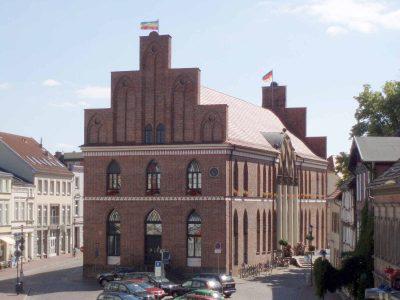 Rathaus, Giebel zum Markt, Parchim