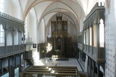 Klarissenkloster, Klosterkirche, innen, Ribnitz