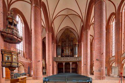 Marienkirche, Blick auf die Orgel, Stendal