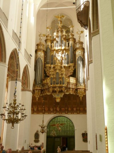 Marienkirche, Blick auf die Orgel, Stralsund