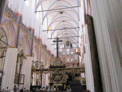 Nikolaikirche, Blick ins Kirchenschiff, Stralsund