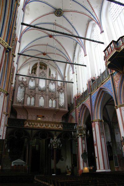 Nikolaikirche, Blick auf die Orgel, Stralsund