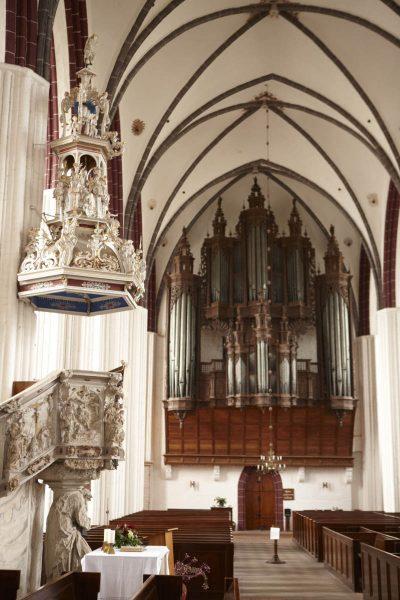 St.-Stephans-Kirche, Blick auf die Orgel, Tangermünde