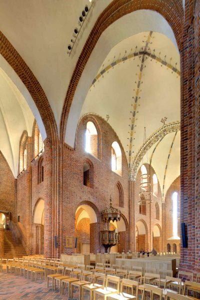 Klosterkiche Løgumkloster, Blick aus dem Altarraum