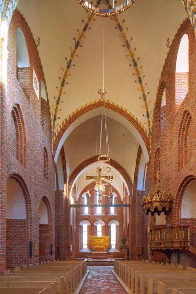 Klosterkiche Løgumkloster, Blick auf den Altar
